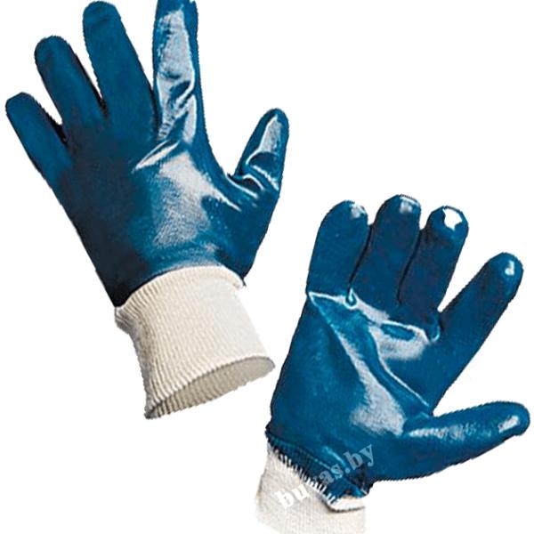 Перчатки с двойным нитрильным покрытием МБС, манжет резинка