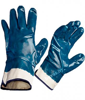 Перчатки с двойным нитрильным покрытием МБС, манжет крага