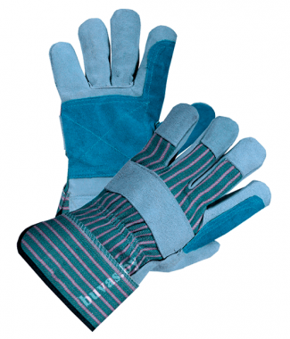 Перчатки спилковые комбинированные с усиленным пальцем «Докер»