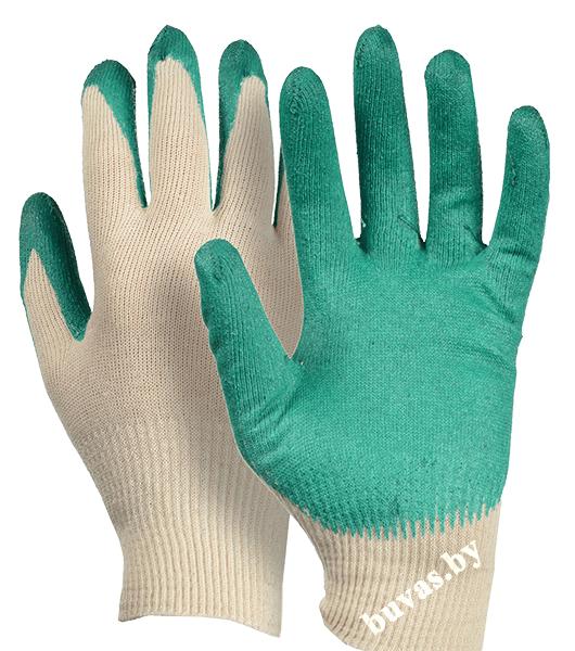 Перчатки х/б с одинарным латексным покрытием