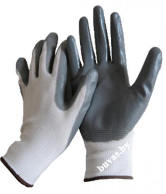 Перчатки нейлоновые с нитрильным покрытием